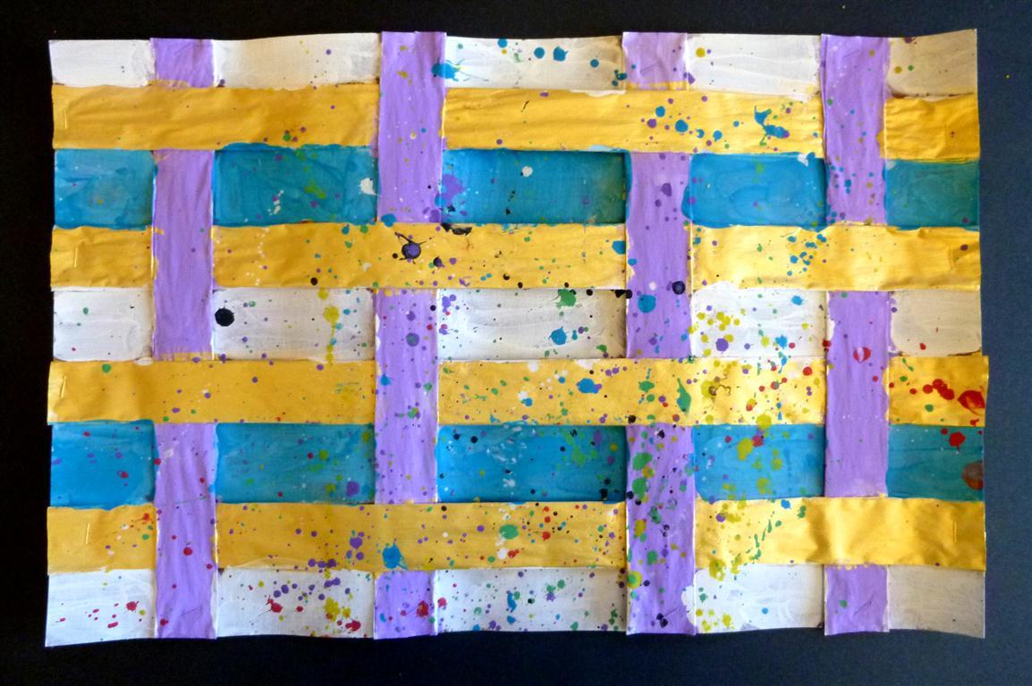 medina painted weavings art kayla