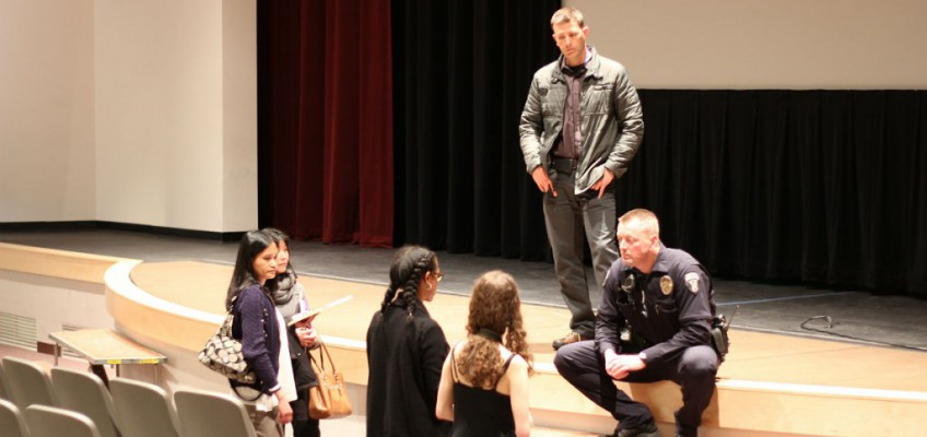 Bellevue Police Office Speaks with Families