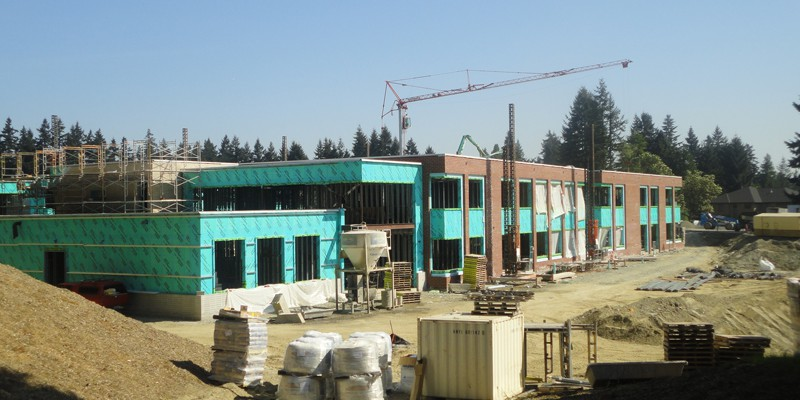 Construction on Chinook Middle School