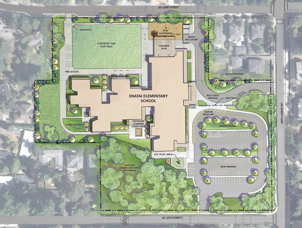 Construction bellevue school district for Green plans