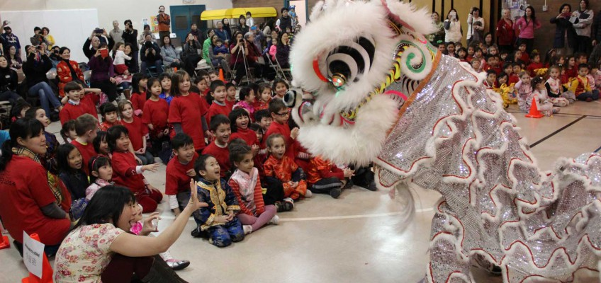 Lion Dance at Jing Mei