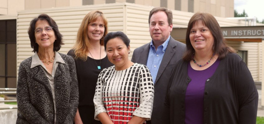 From left to right: Chris Marks, Christine Chew (President), My-Linh Thai (Vice President), Steve McConnell, Carolyn Watson