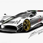 Drawing of Sports Car