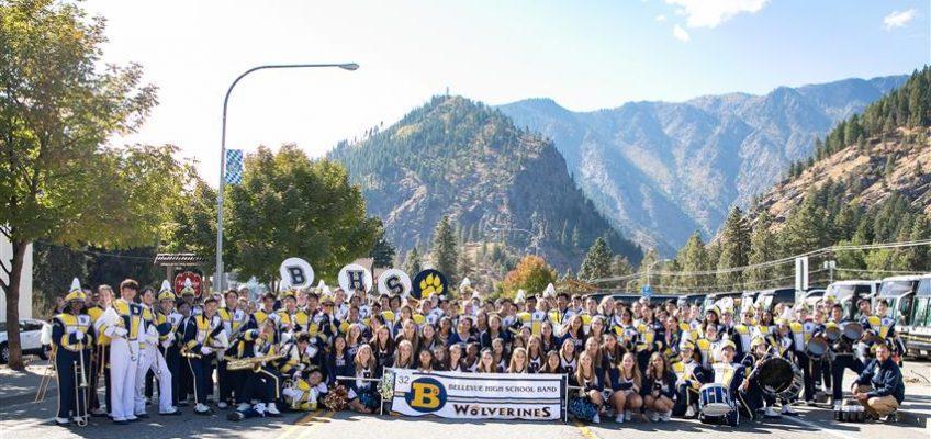 Bellevue Marching Band In Leavenworth