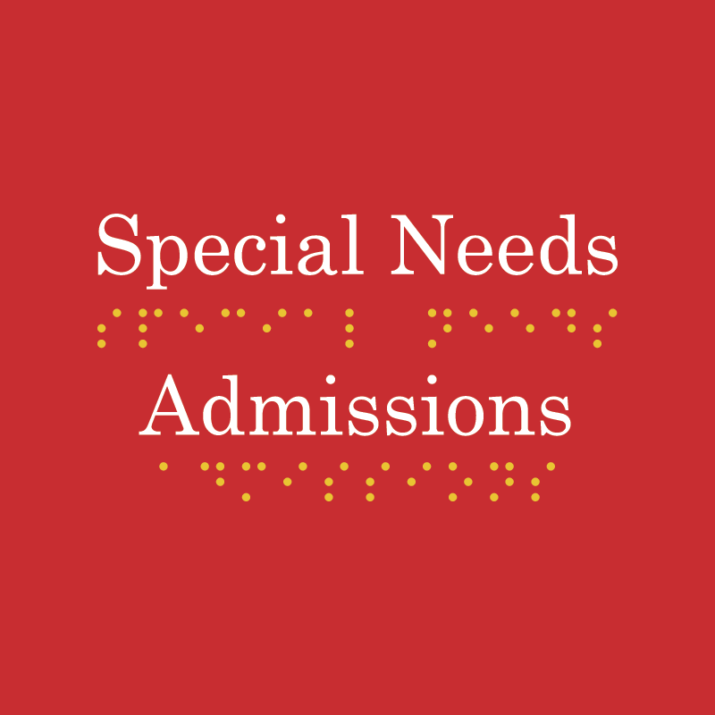 Special Needs Admissions